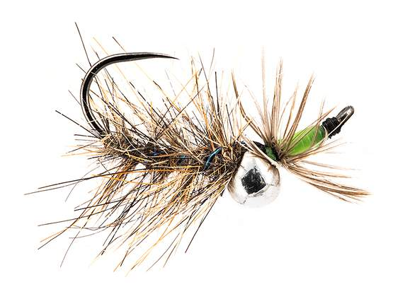 Jig Off Peepeing Caddis Chartreuse Fluo TG BL