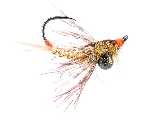 Ivans Jig Off Woven Stonefly Nymph TG BL Yellow